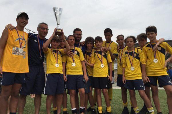 Scuola Calcio Valle Giulia, i ragazzi di mister Santangelo secondi in Italia