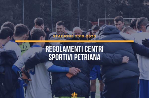 Regolamenti centri sportivi Petriana – Covid 19